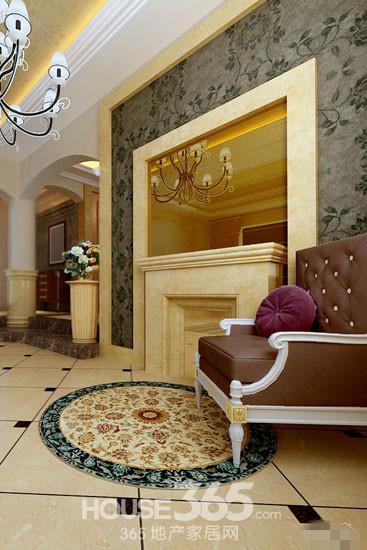 现代欧式玄关效果图: 门的造型设计
