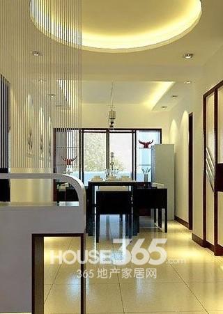 餐厅吊顶装修效果图:时尚现代感非常强烈的家居装修,圆形吊