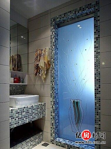 欧式厕所门磨砂艺术玻璃
