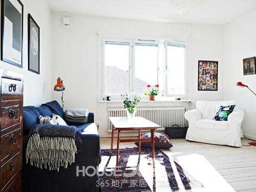 白色地板装修效果图 打造干净明亮的家