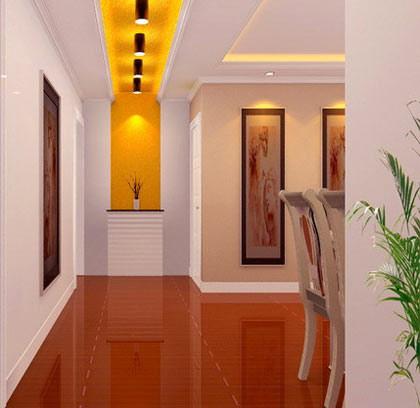 客厅进门玄关效果图:走廊吊顶装修效果图,很漂亮的灯光设计.