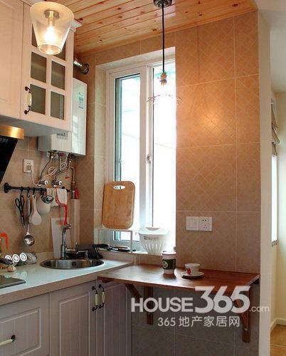 40平方米装修效果图:厨房墙角边的小隔板