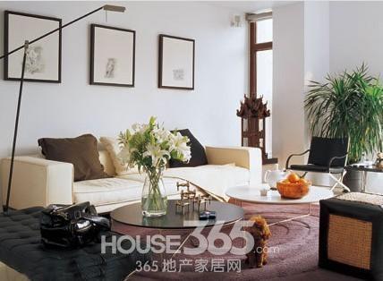 让家简约却不简单     客厅简单装修图片:纯白的墙壁和纯白的