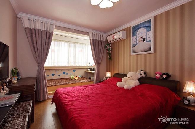 一居室装修效果图 现代简约一居室卧室梳妆台灯具装修效果