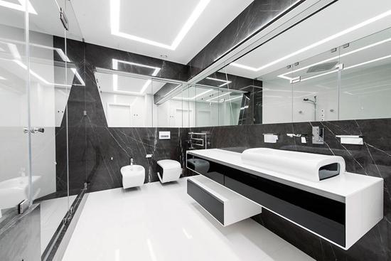 几何黑白硬朗风 俄罗斯奇幻公寓