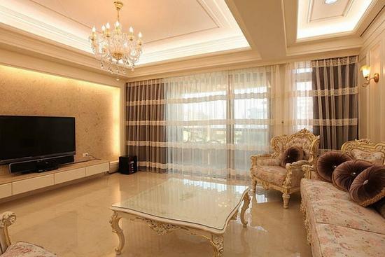 客厅瓷砖电视背景墙效果图