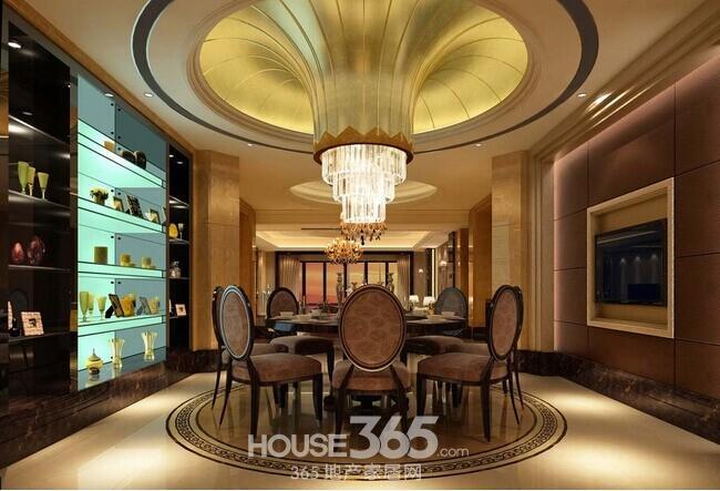 > 欧式别墅装修效果图 高大上的视觉享受             较为典型的欧式