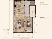 下叠—叠墅中的王牌-建筑面积约169㎡(下叠)4室3厅3卫1厨2阳台2庭院-地下一层