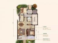下叠—叠墅中的王牌-建筑面积约169㎡(下叠)4室3厅3卫1厨2阳台2庭院-一层