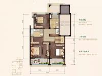 下叠—叠墅中的王牌-建筑面积约169㎡(下叠)4室3厅3卫1厨2阳台2庭院-二层